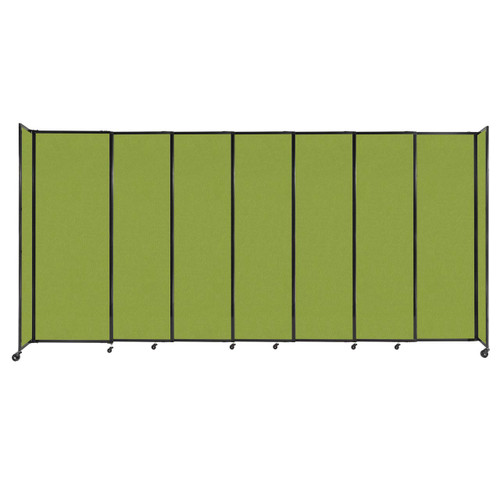 """StraightWall Sliding Portable Partition 15'6"""" x 7'6"""" Lime Green Fabric"""