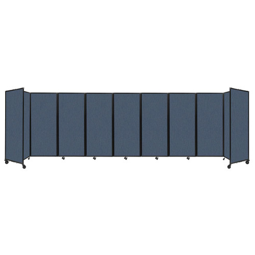 """Room Divider 360 Folding Portable Partition 25' x 6'10"""" Ocean Fabric"""