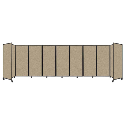 """Room Divider 360 Folding Portable Partition 25' x 6'10"""" Rye Fabric"""