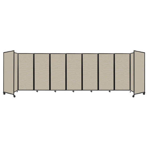 """Room Divider 360 Folding Portable Partition 25' x 6'10"""" Sand Fabric"""