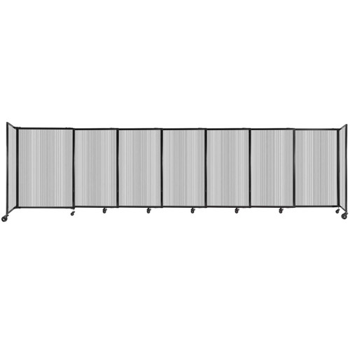 """StraightWall Sliding Portable Partition 15'6"""" x 4' Clear Fluted Polycarbonate"""