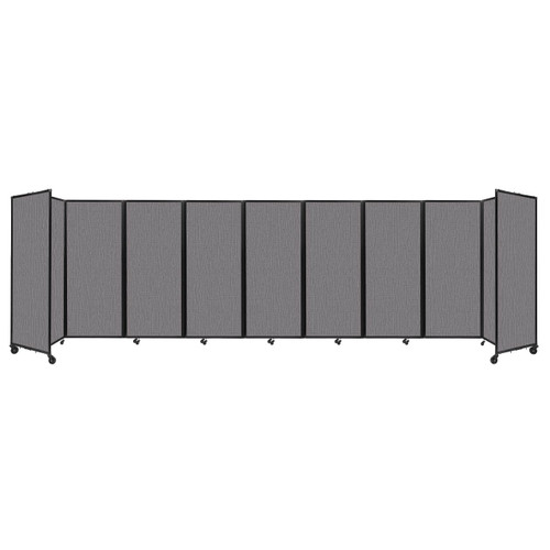 """Room Divider 360 Folding Portable Partition 25' x 6'10"""" Slate Fabric"""