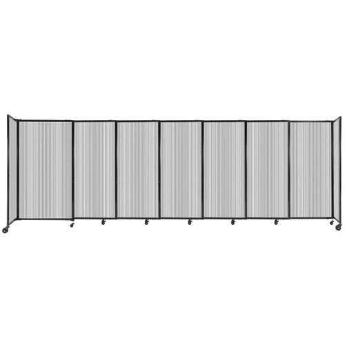 """StraightWall Sliding Portable Partition 15'6"""" x 5' Clear Fluted Polycarbonate"""
