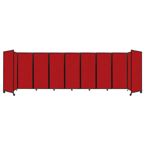 """Room Divider 360 Folding Portable Partition 25' x 6'10"""" Red Fabric"""