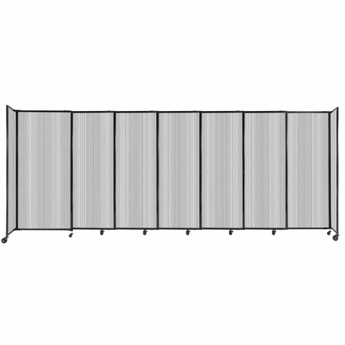 """StraightWall Sliding Portable Partition 15'6"""" x 6' Clear Fluted Polycarbonate"""