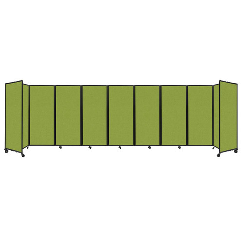 """Room Divider 360 Folding Portable Partition 25' x 6'10"""" Lime Green Fabric"""