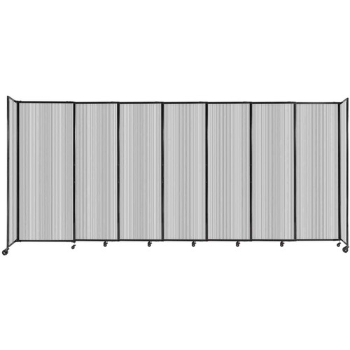 """StraightWall Sliding Portable Partition 15'6"""" x 6'10"""" Clear Fluted Polycarbonate"""