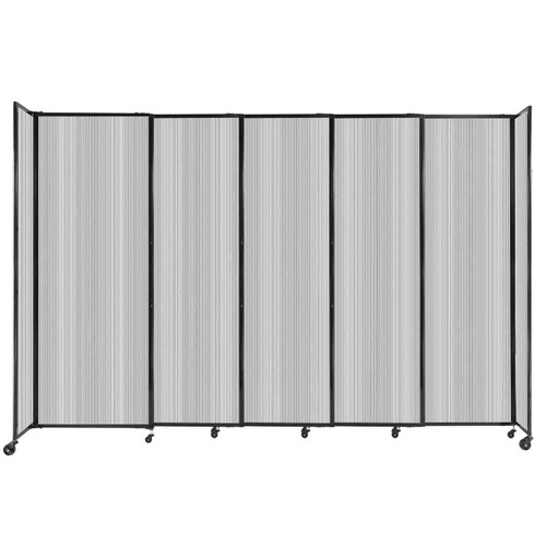 """StraightWall Sliding Portable Partition 11'3"""" x 7'6"""" Clear Fluted Polycarbonate"""