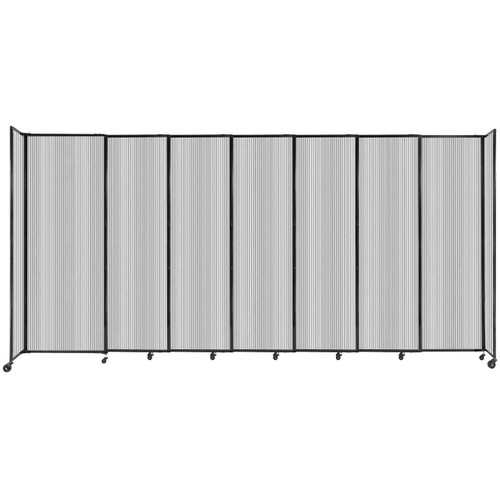 """StraightWall Sliding Portable Partition 15'6"""" x 7'6"""" Clear Fluted Polycarbonate"""