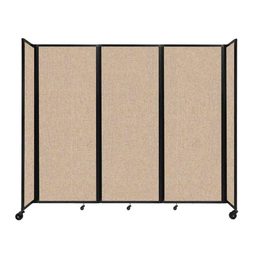 """Room Divider 360 Folding Portable Partition 8'6"""" x 7'6"""" Beige Fabric"""