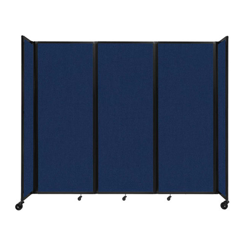 """Room Divider 360 Folding Portable Partition 8'6"""" x 7'6"""" Navy Blue Fabric"""
