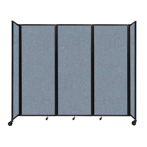 """Room Divider 360 Folding Portable Partition 8'6"""" x 7'6"""" Powder Blue Fabric"""