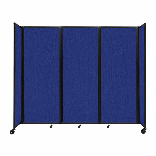 """Room Divider 360 Folding Portable Partition 8'6"""" x 7'6"""" Royal Blue Fabric"""
