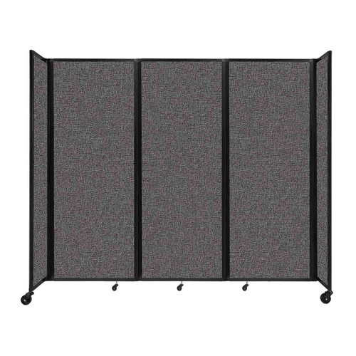 """Room Divider 360 Folding Portable Partition 8'6"""" x 7'6"""" Charcoal Gray Fabric"""
