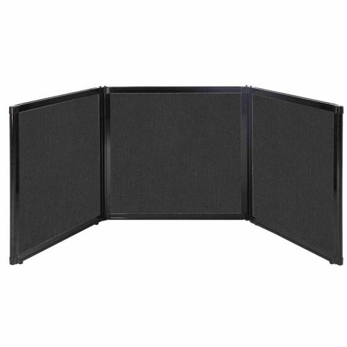 "Folding Tabletop Display 78"" x 24"" Black Fabric"