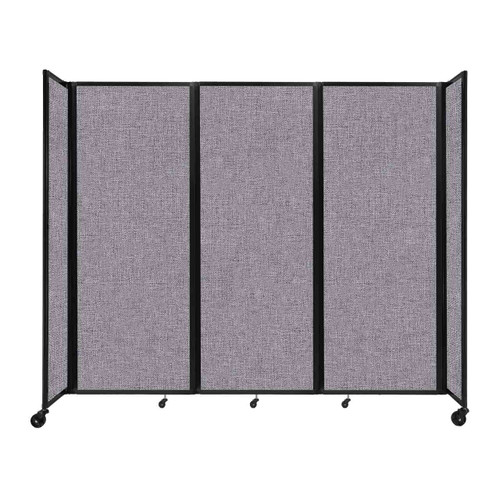 """Room Divider 360 Folding Portable Partition 8'6"""" x 7'6"""" Cloud Gray Fabric"""