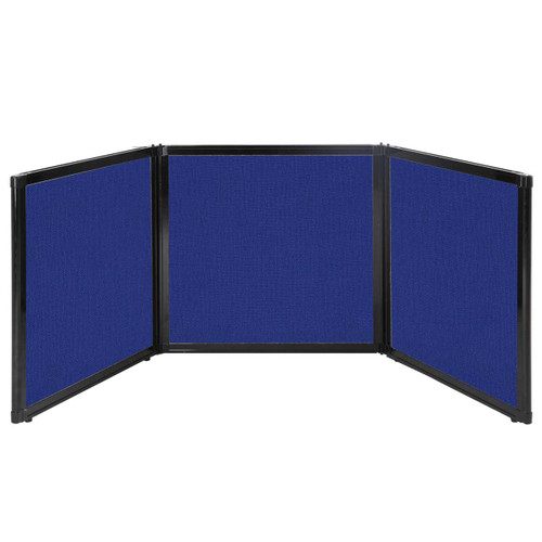 "Folding Tabletop Display 78"" x 24"" Royal Blue Fabric"