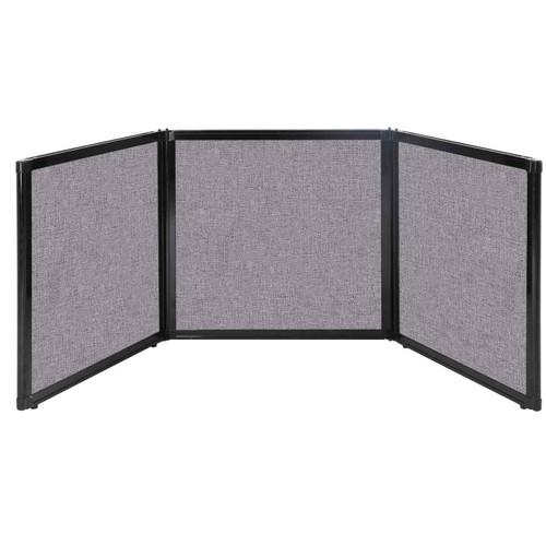 "Folding Tabletop Display 78"" x 24"" Cloud Gray Fabric"