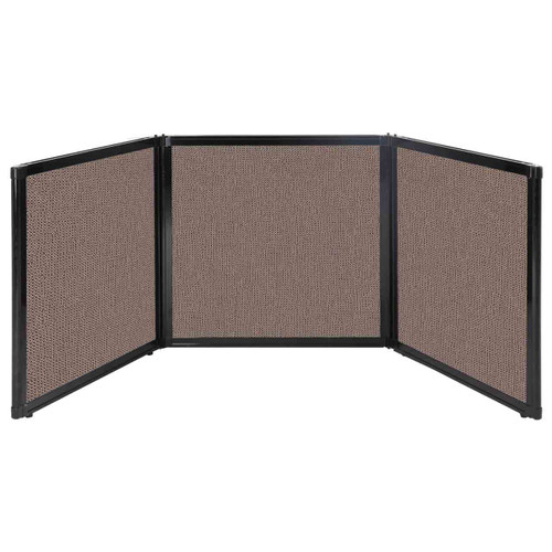 "Folding Tabletop Display 78"" x 24"" Latte Fabric"