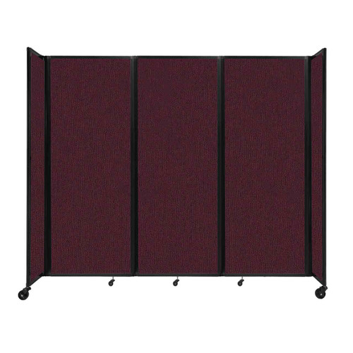 """Room Divider 360 Folding Portable Partition 8'6"""" x 7'6"""" Cranberry Fabric"""