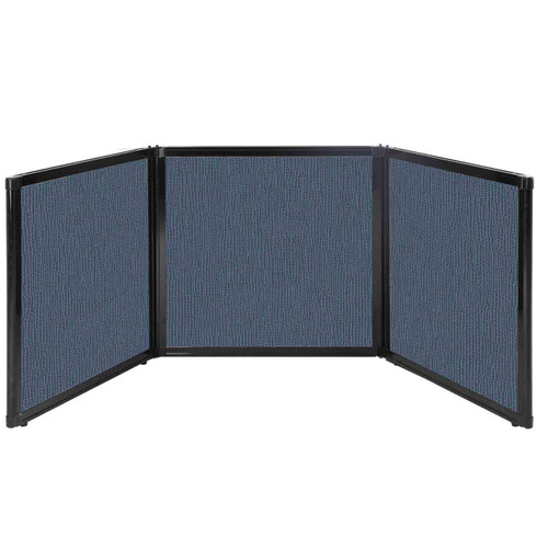 "Folding Tabletop Display 78"" x 24"" Ocean Fabric"