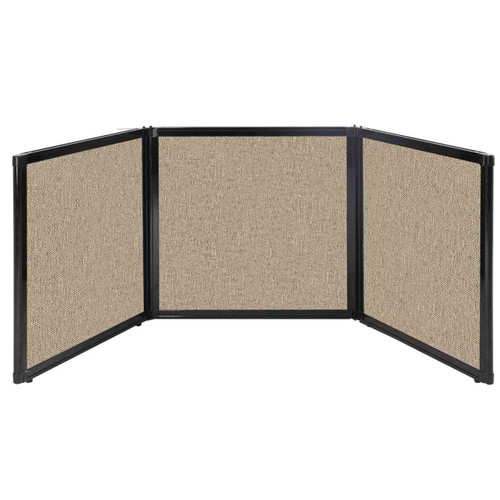 "Folding Tabletop Display 78"" x 24"" Rye Fabric"
