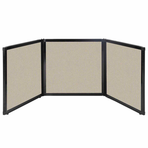 "Folding Tabletop Display 78"" x 24"" Sand Fabric"