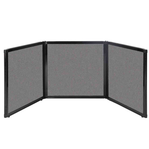 "Folding Tabletop Display 78"" x 24"" Slate Fabric"