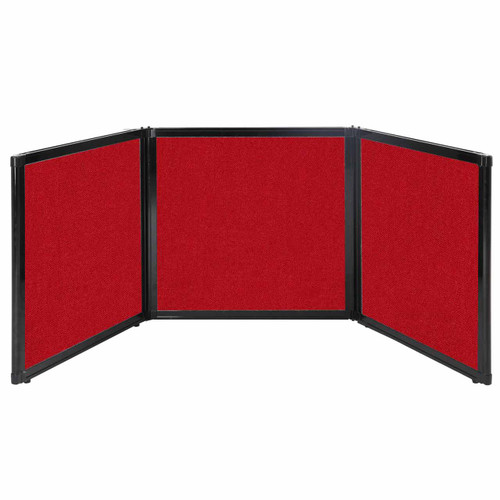 """Folding Tabletop Display 78"""" x 24"""" Red Fabric"""