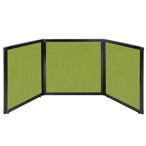 "Folding Tabletop Display 78"" x 24"" Lime Green Fabric"