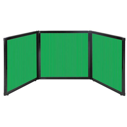 "Folding Tabletop Display 78"" x 24"" Green Polycarbonate"