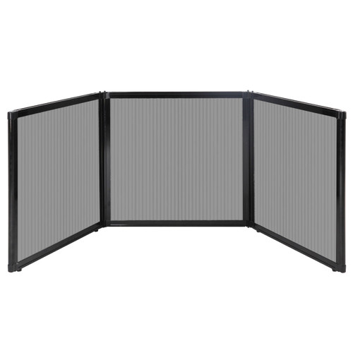 "Folding Tabletop Display 78"" x 24"" Light Gray Polycarbonate"