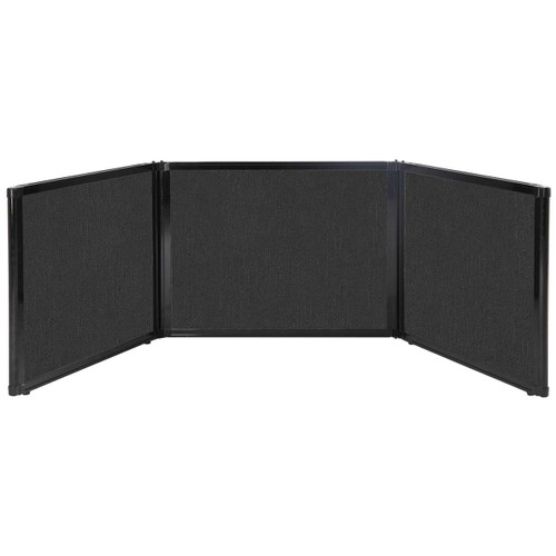 "Folding Tabletop Display 99"" x 24"" Black Fabric"