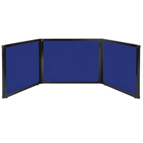 "Folding Tabletop Display 99"" x 24"" Royal Blue Fabric"