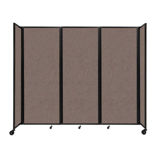 """Room Divider 360 Folding Portable Partition 8'6"""" x 7'6"""" Latte Fabric"""