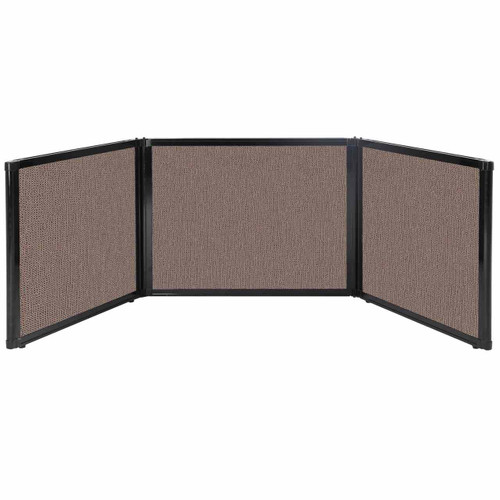 "Folding Tabletop Display 99"" x 24"" Latte Fabric"