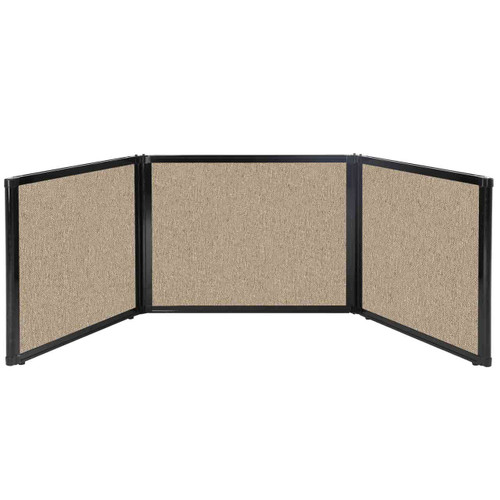"Folding Tabletop Display 99"" x 24"" Rye Fabric"