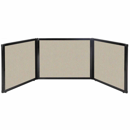 "Folding Tabletop Display 99"" x 24"" Sand Fabric"