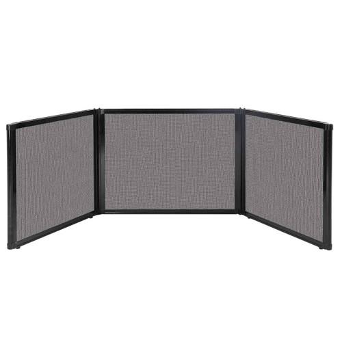 "Folding Tabletop Display 99"" x 24"" Slate Fabric"