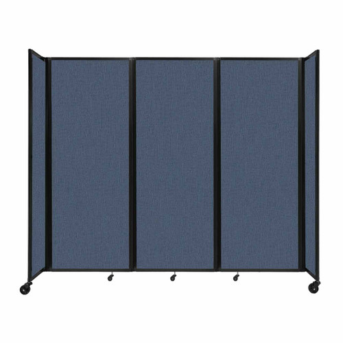 """Room Divider 360 Folding Portable Partition 8'6"""" x 7'6"""" Ocean Fabric"""