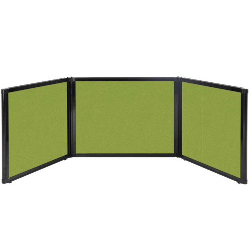 "Folding Tabletop Display 99"" x 24"" Lime Green Fabric"