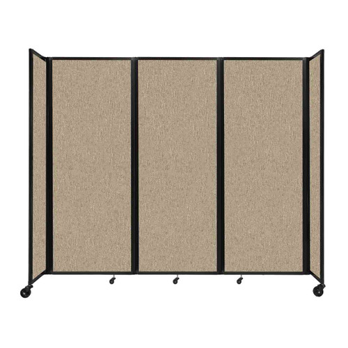 """Room Divider 360 Folding Portable Partition 8'6"""" x 7'6"""" Rye Fabric"""