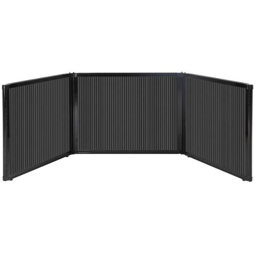 "Folding Tabletop Display 99"" x 24"" Dark Gray Polycarbonate"