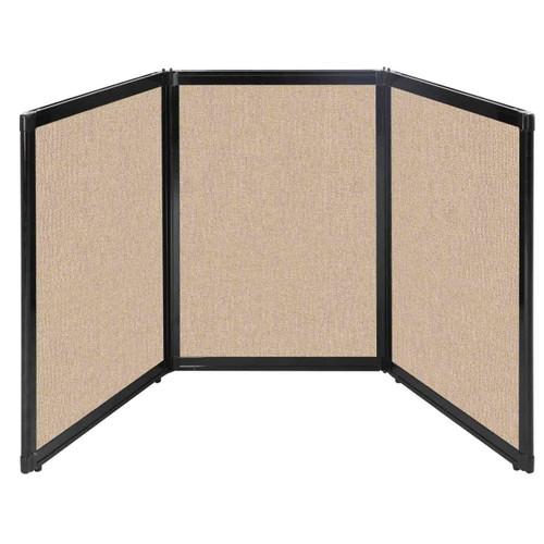 "Folding Tabletop Display 78"" x 36"" Beige Fabric"