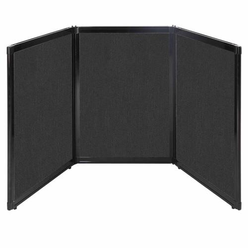 "Folding Tabletop Display 78"" x 36"" Black Fabric"