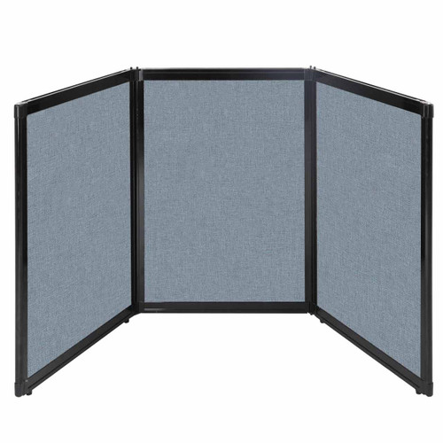 "Folding Tabletop Display 78"" x 36"" Powder Blue Fabric"