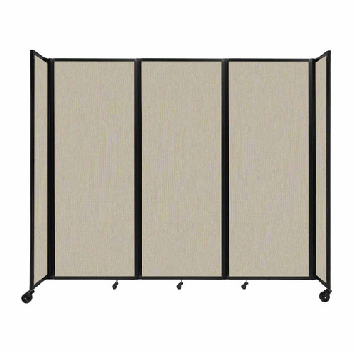 """Room Divider 360 Folding Portable Partition 8'6"""" x 7'6"""" Sand Fabric"""