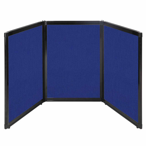 "Folding Tabletop Display 78"" x 36"" Royal Blue Fabric"