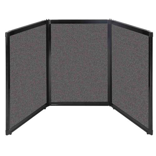 "Folding Tabletop Display 78"" x 36"" Charcoal Gray Fabric"