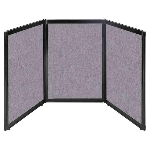 "Folding Tabletop Display 78"" x 36"" Cloud Gray Fabric"